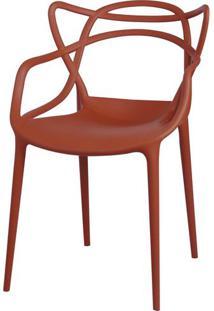 Cadeira Master Allegra Polipropileno Laranja Telha - 34301 - Sun House
