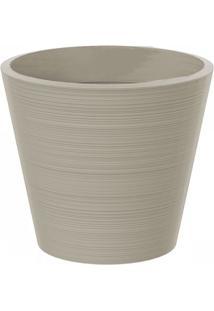 Vaso Decorativo De Plástico Baixo Linea 51Cmx58Cm Japi Cimento