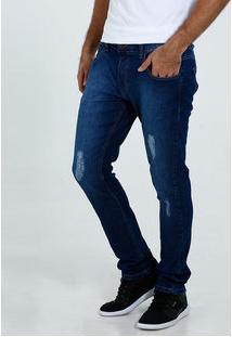 Calça Masculina Jeans Slim Puídos Marisa