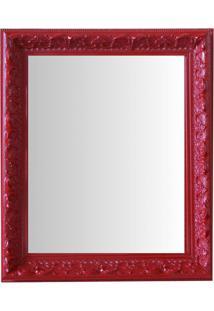 Espelho Moldura Rococó Raso 16391 Vermelho Art Shop