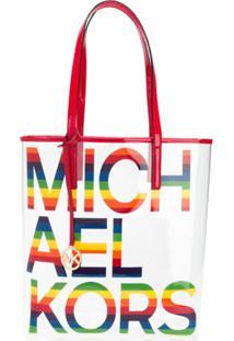 Michael Michael Kors Bolsa Tote Com Logo Contrastante - Vermelho