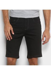 Bermuda Sarja Forum Slim Básica Jeans Paul Masculina - Masculino