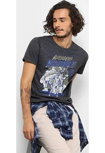 Camiseta Marvel Avengers Masculina - Masculino-Preto