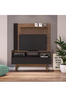 Estante Home Para Tv 50 Pol Estilare Vitrola 3 Portas Preto