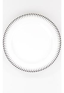 Conjunto De Pratos Para Sobremesa Porcelana Schmidt 06 Peças - Dec. Mila