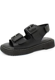 Sandália Damannu Shoes Kitty Feminina - Feminino-Preto