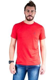 Camiseta Mister Fish Gola Careca Basic Top Hat Masculina - Masculino-Vermelho