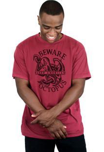 Camiseta Bleed American Octopus Vinho