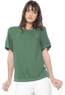 Blusa Colcci Pespontos Verde