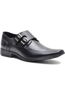 Sapato Social Lsb Shoes Bico Espumado Masculino - Masculino-Preto