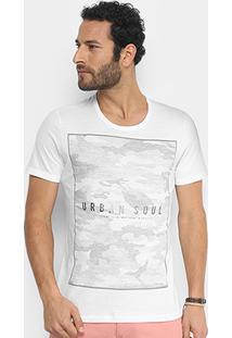 Camiseta Kohmar Urban Camuflada Masculina - Masculino-Branco