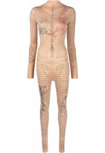 Ttswtrs Body Com Estampa De Tatuagem - Neutro