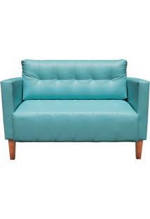 Sofá D'Rossi Retrô Namoradeira 2 Lugares Livia Corino Azul Tiffany