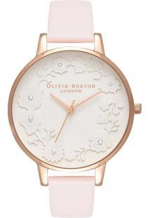 Relógio Olivia Burton Feminino Couro Rosa - Ob16Ar01