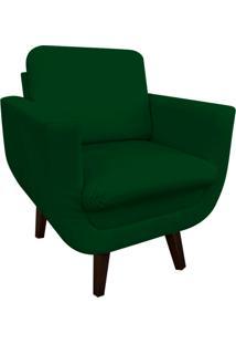 Poltrona Decorativa Athenas Suede Verde D'Rossi