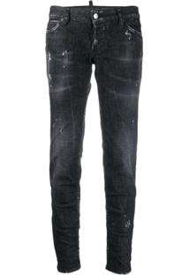 Dsquared2 Calça Jeans Slim - Preto