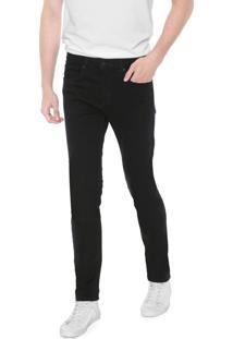 Calça Sarja Calvin Klein Jeans Slim Color Five Pocket Preta
