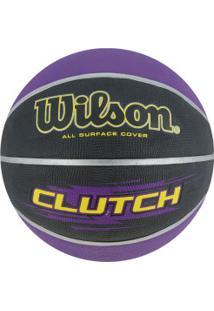 Bola De Basquete Wilson Clutch 7 - Roxo/Preto