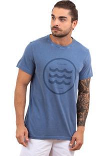 Camiseta Limits Relief 3 Ondas Azul
