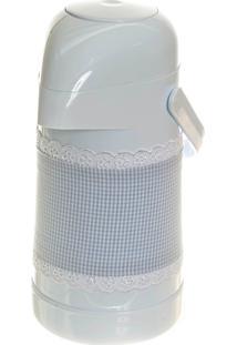 Garrafa Térmica Com Capa Potinho De Mel Azul