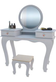 Penteadeira 7800 Luxo Branco Brilho Móveis Jb Bechara