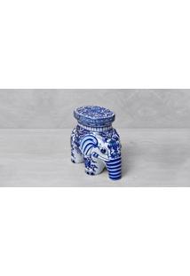 Decorativo Mini Banco Elephant Cor: Azul - Tamanho: Único
