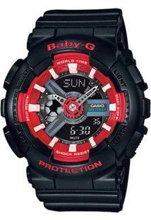 Relógio Casio Baby-G Anadigi Ba-110Sn-1Adr Feminino - Feminino-Preto