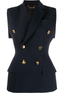 Givenchy Charm Buttons Double-Breasted Gilet - Azul