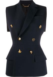 Givenchy Colete Com Abotoamento Duplo - Azul