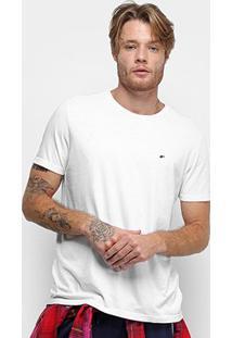 Camiseta Ellus Cotton Fine E Asa Classic Masculina - Masculino-Branco