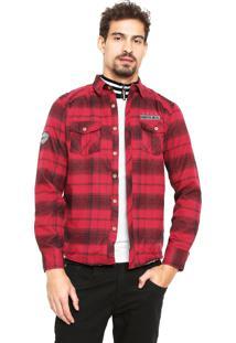 Camisa Gangster Reta Vermelha