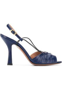 L'Autre Chose Sandália Com Salto A Abertura Frontal - Azul