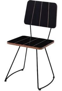 Cadeira Santinho Preto Base Curve Preto 46Cm - 62078 - Sun House