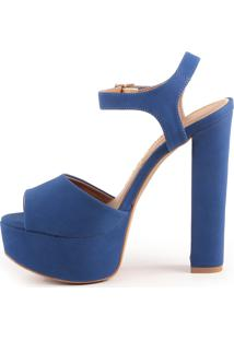 Sandália Paula Brazil Louizy 1040-80701 Nobuck Azul