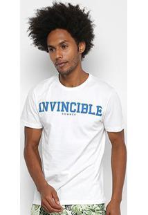 Camiseta Sommer Estampada Masculina - Masculino-Branco