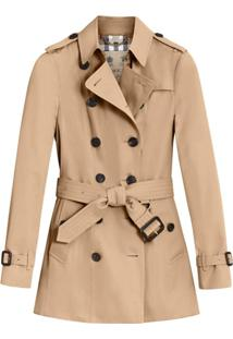 Burberry Trench Coat Curto Sandringham - Neutro