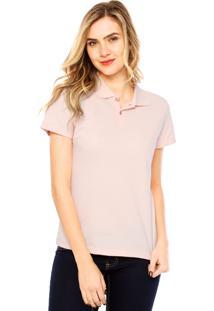 0b632126ea680 ... Camisa Polo Manga Curta Malwee Confort Rosa