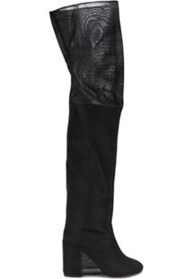 Mm6 Maison Margiela Bota Meia Over The Knee - Preto