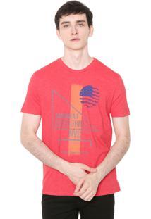 Camiseta Calvin Klein Jeans Degrade Vermelha
