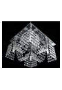 Lustre Cristal Legitimo Plafon Quadrado 30X30X15Cm - Jp/Toyota-M4/30