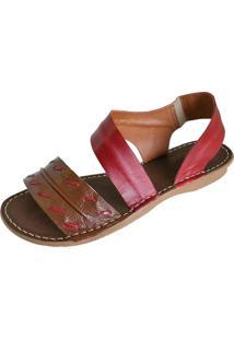 Sandalia Scarpe Elastico Vermelho