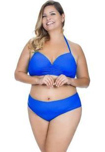 Calcinha Plus Size Básica Agridoce Feminina - Feminino-Azul