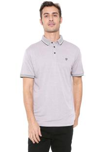 Camisa Polo Richards Reta Logo Cinza