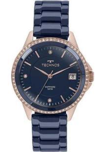 Relógio Feminino Technos 2315Kzt/4A - Unissex-Azul