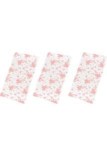 Kit Com 3 Toalhas De Banho Cloe Rosa