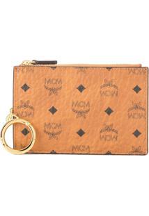 Mcm Porta Moedas Com Logo - Marrom