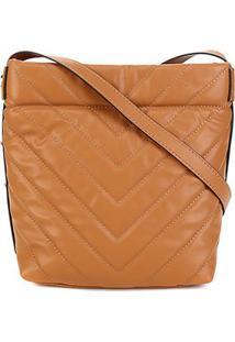 Bolsa Dumond Shoulder Bag Matelassê Feminina - Feminino-Marrom