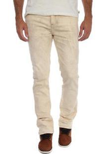 Calça Timberland Jeans Dusty White Slim Masculina - Masculino-Bege