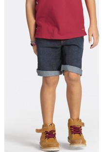 Bermuda Jeans Infantil Menino Em Tecido De Algodão Puc [] []
