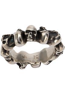 Werkstatt:München Multi Skull Ring - Vermelho